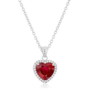 Jewelry - 14K White Gold Ruby And Diamonds 5.40 Ct Pendant N
